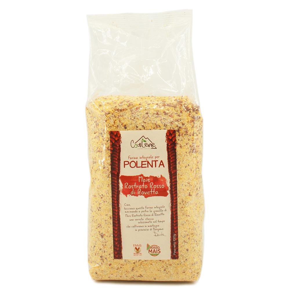 Farina integrale di Mais Rostrato Rosso di Rovetta per polenta