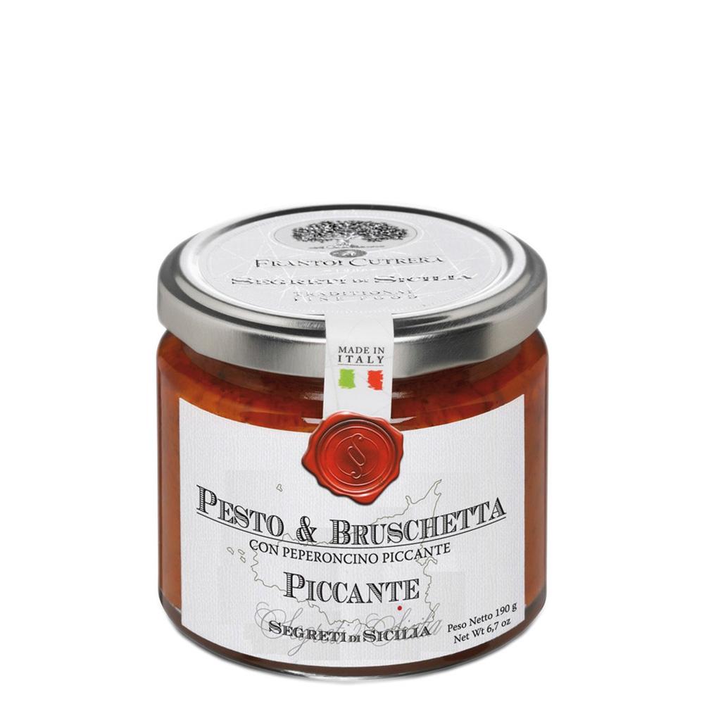 Pesto & bruschetta piccante (con peperoncino piccante)
