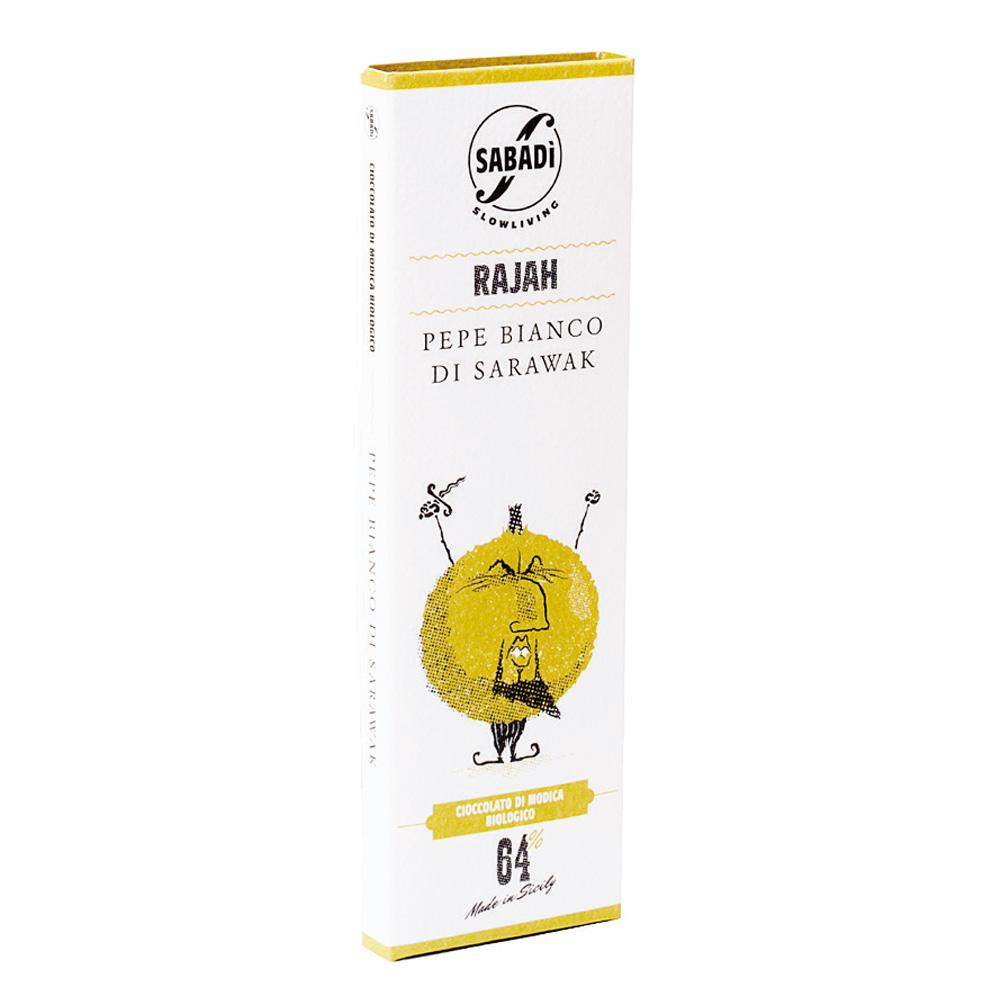 RAJAH – Cioccolato di Modica biologico al pepe bianco di Sarawak